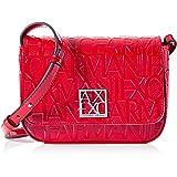 Armani Exchange 女士 Shiny Liz-Small 单肩包,粉红色,13x5x19 厘米