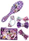 TownleyGirl 米妮老鼠发套装,含发刷、蝴蝶结和发夹,7 克拉