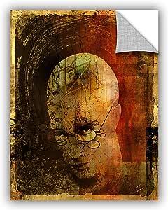 "ArtWall Greg Simanson's Metro Brain Art Appeelz Removable Graphic Wall Art, 24 x 32"""
