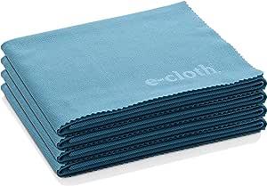 E-Cloth 玻璃和抛光超细纤维清洁布 阿拉斯加州蓝 4 Pack 12603AB4