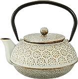 Cotta 铁器茶壶 花 白金 白色 金 15.6×14×14.6厘米 92162