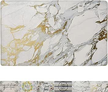 "Cozy-Living-Parent Marble White Gold 20"" x 36"""
