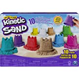 Kinetic Sand 6052995 Castle Containers 10-Colour Pack for Ki…