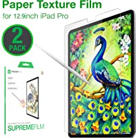 Paperlike 屏幕保护膜兼容 iPad Pro 12.9 英寸、防眩光、防刮、哑光PET 膜、苹果铅笔,2 支装
