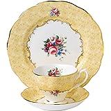 Royal Albert 100 Years 40017539 1990 花束茶杯,茶碟以及盘子3件套,20厘米,黄色…