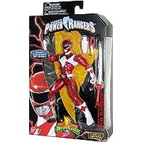Mighty Morphin Power Rangers Legacy 系列限量版 15.24 cm 红色战士金属饰面和*武器