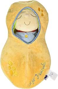 Manhattan Toy Snuggle Pod Hunny Bunny First 婴儿玩偶,带舒适*袋 Lil' Peanut Size 花生