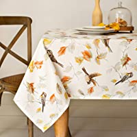 Benson Mills 金色秋季印花桌布,152.4 厘米 X 213.36 厘米,多色