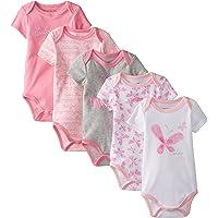 Calvin Klein Baby Girls Pink Butterfly Printed 5pc Bodysuit Set