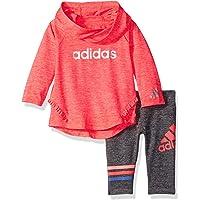 Adidas Baby Girls' Neon Melange Hooded Set