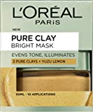 L'Oreal Paris Skin Expert Pure Clay Bright Face Mask, 50 ml