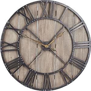家庭必备大超大装饰质朴挂钟 棕色 2376-1
