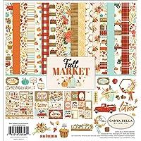 Carta Bella Paper Company CBFAM105016 秋季市场收集套件纸,橙色,红色,青色,奶油色…
