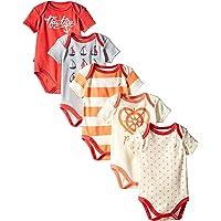 Nautica Baby-Girls Newborn 5 Pack Sails Bodysuits