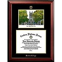 """校园图像""""波士顿学院压花文凭框架,平版印刷,30.48cm x 40.97cm,金色"""