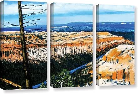 ArtWall Gene Foust's Mountain 上装蓝色天空 3 件套画廊包装油画套装 36x54 0fou003c3654w