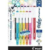 PILOT FriXion Fineliner可擦记号笔,细尖,彩色墨水,12支装(11452)