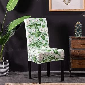 餐厅椅套柔软氨纶座椅保护罩弹力短款可拆卸套酒店典礼宴会婚礼派对 Viburnum