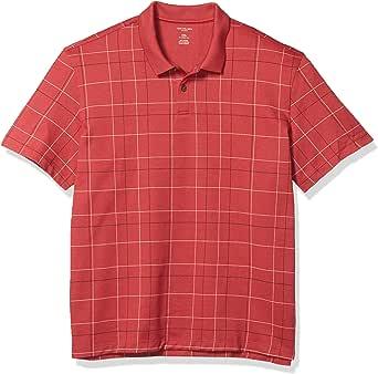 Van Heusen 男式 Flex 短袖弹力窗格 Polo 衫