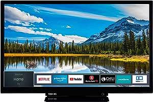 Toshiba 东芝电视(全高清,智能电视,三调谐器,Prime 视频,蓝牙,适用于 Alexa) 24 Zoll 24W2963DAX