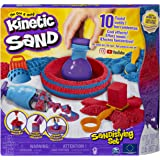 Kinetic Sand 6047232 磨砂套装,含 906 克沙和 10 个工具,适合 3 岁及以上儿童,多色