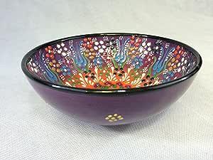 6.2 英寸/16 厘米陶瓷手工碗 紫色 unknown