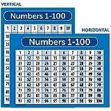 数字 1-100 海报表 - 层压 - 双面 18x24 N1-100(2)