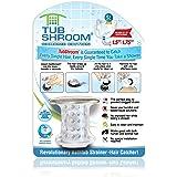 TubShroom Chrome 版本 革命性的浴缸排水保护器,捕手,过滤器,圈套器