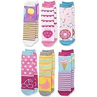 Jefferies Socks 女童 Little Sweat Treats 冰淇淋/甜甜圈 时尚水手袜 6 双装