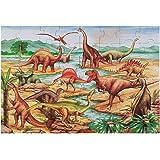 Melissa & Doug 恐龙 大型拼图 地板拼图 ( 48件 2X 3 尺,约 0.6 x 0.9 米 )
