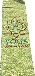 Suvinyas 新型瑜伽酒店豪华瑜伽垫手工织机*棉环保 63.5 x 182.88 cm 灰* 采用手工制成 易于清洗 带瑜伽袋