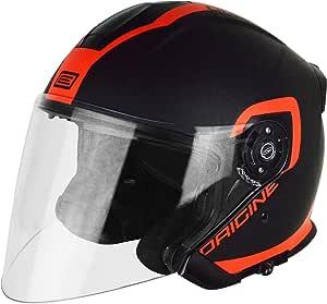 Herkunft 头盔 201586020100506 Jet Palio Flow 2.0,黑色/橙色,XL