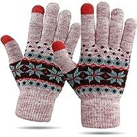 HÖTER 女式冬季羊毛手套触屏保暖柔软内衬弹性袖口