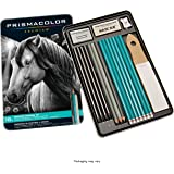 Prismacolor 24261 Premier 石墨绘图铅笔,带有橡皮擦和卷笔刀,18支