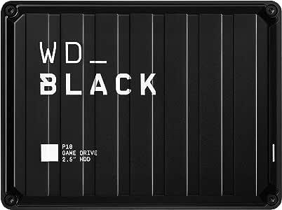 Western Digital 西部数据 黑色P10 4 TB游戏驱动器-便携式外部硬盘驱动器,与PS4 Xbox One PC和Mac兼容