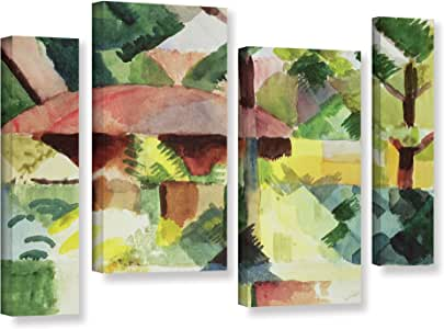 """ArtWall Franz Marc's the Garden 4 Piece Gallery Wrapped Canvas Staggered Set, 36"""" x 54"""""""