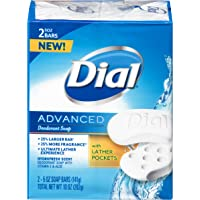 Dial Advanced Bar Soap Hydrofresh Scent 5 Ounce Bars 2 Count (Pack of 24)