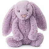 Jellycat 害羞Lilac邦尼兔毛绒玩具 中号 12英寸/约30.48厘米