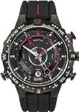 Timex 天美时 男士T2N720石英Tide Temp Compass手表 带黑色指针和 黑色硅胶表带