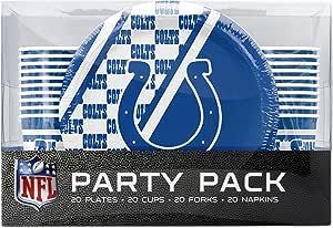 NFL Indianapolis Colts 一次性派对包(盘子、杯子、叉子、餐巾纸)