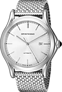 Emporio Armani Swiss Made Men's ARS3006 Analog Display Swiss Quartz Silver Watch