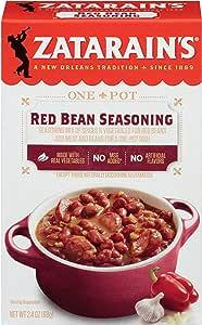 zatarain ' s 红色 bean seasoning ,4盎司(一箱12)