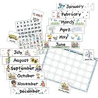 Eureka Suzy's Zoo Calendar Kit Bulletin Board Set, Panels 17 x 24  inches  Each
