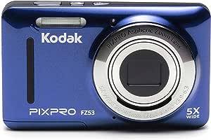 Kodak PIXPRO Friendly Zoom FZ53 16 MP 数码相机,5 倍光学变焦,2.7 英寸 LCD 屏幕(黑色)FZ53-BL FZ53-BL 1 蓝色
