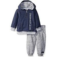 Calvin Klein 卡尔文·克莱恩 男童 2件装 帽衫慢跑裤套装