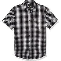 A|X Armani Exchange 阿玛尼男式格子短袖系扣衬衫带领