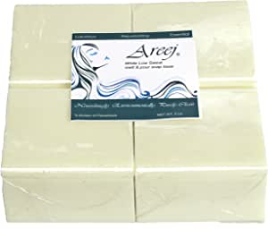 areej 低原 biodegradable 白色低 Sweat 肥皂 BASE 制造与甘油–2.3kilogram
