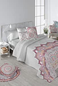 Stilia 3 件套羽绒被套 + 枕套 + 床笠套装 Amy 桃红色 240 x 240 cm 8412491038721