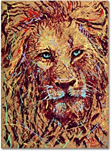 """Trademark Fine Art Leo the Lion by Lowell S.V. Devin Wall Hanging, 24"""" x 32"""""""