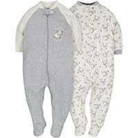 Gerber 嘉宝 婴儿款2件装拉链睡衣